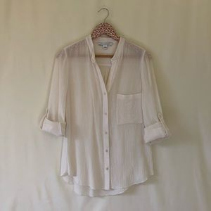 Diane Von Furstenberg 100% cotton button down